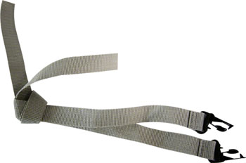 Burley Child Trailer Shoulder Straps: Gray, Set of 2