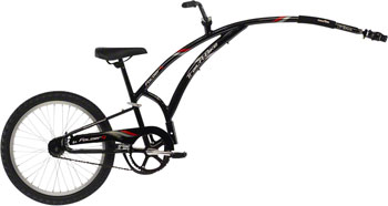 Adams Trail A Bike Folder One Child Trailer: Black