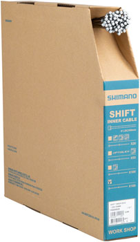 Shimano Zinc Derailleur Cable 1.2 x 2100mm, Filebox of 100