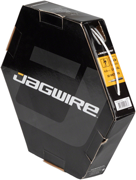 Jagwire 4mm Sport Derailleur Housing with Slick-Lube Liner 50M File Box, White