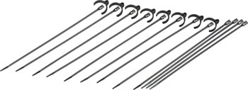 Cobra Ties Kit of 8 Flexroute Cable Guides and 12 Low Profile 50lb Cobra Ties (190 x 4.5mm), Black