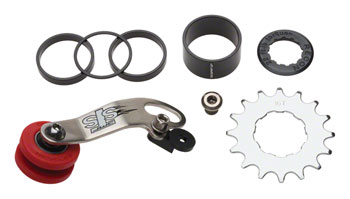 DMR STS Chain Tensioner and Cassette Spacer Combo Kit, Stainless Steel Silver