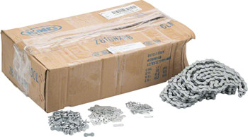 KMC Z610HX RustBuster: 3/32, 100 Links, Silver, Bulk Box of 50