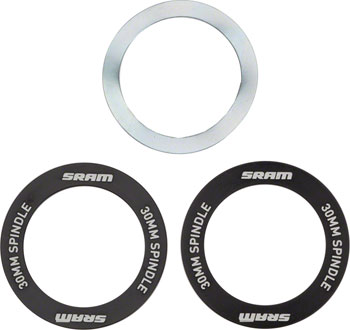 Wheels Manufacturing BB30 to Sram 22//24mm adapter Black Pair BB30-SRAM