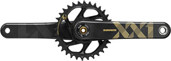 SRAM XX1 Eagle Carbon DUB Crankset 170mm Direct Mount 34t X-Sync 2 Chainring Gold, Bottom Bracket Not Included