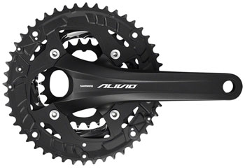 Shimano Alivio FC-T4060 Crankset - 170mm, 9-Speed, 48/36/26t, 104/64 BCD, Hollowtech II Spindle Interface, Black
