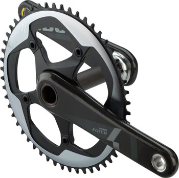 SRAM Force 1 Crankset - 170mm, 10/11-Speed, 52t, 130 BCD, GXP Spindle Interface, Black
