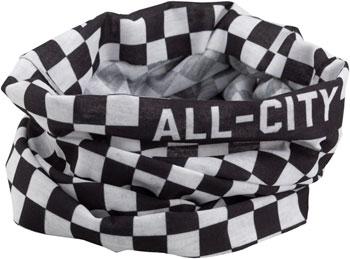 All-City Tu Tone Neck Gaiter: Black/White One Size
