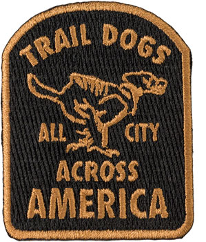 All-City Trail Dogs Patch: Black/Brown