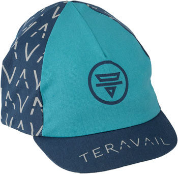 Teravail Cycling Cap: Light Blue/Dark Blue One Size