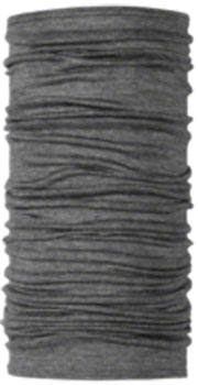 Buff Lightweight Merino Wool Multifunctional Headwear: Gray, One Size