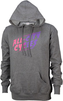 All-City California Fade Pull-over Hoodie: Gray SM