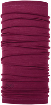 Buff Lightweight Merino Wool Multifunctional Headwear: Purple Raspberry, One Size