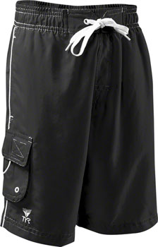 TYR Challenger Men's Boardshort with Liner: Black, LG