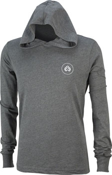 Eclat Circle Icon Long Sleeve T-Shirt: Dark Heather Gray XL