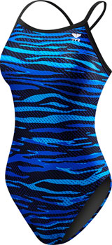 TYR Crypsis Diamondfit Women's Swimsuit: Blue 28