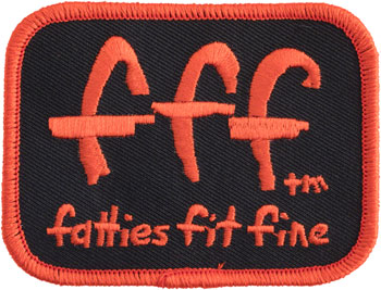 Surly Fatties Fit Fine Patch: Black/Red