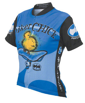 World Jerseys Women's Biker Chick Cycling Jersey: Blue, MD