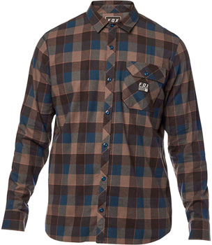 Fox Racing Rowan Stretch Men's Long Sleeve Flannel Shirt: Navy 2XL