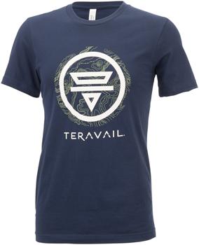 Teravail Logo T-Shirt - Navy, Green, Gray, Small