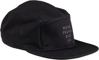We The People Bike Co Embroidery 5 Panel Cap - Black, One Size