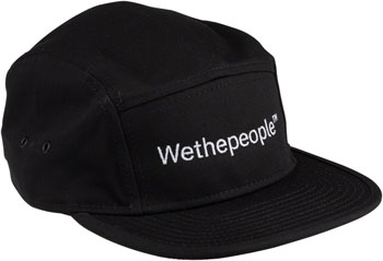 We The People WTP Embroidery 5 Panel Cap - Black, One Size