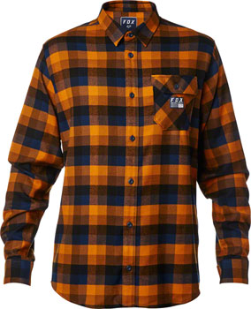 Fox Racing Rovar Men's Flannel Shirt: Orange LG