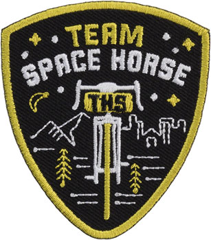 All-City Team Space Horse Patch: Black/Yellow