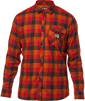 Fox Racing Rowan Stretch Men's Long Sleeve Flannel Shirt: Bordeaux 2XL