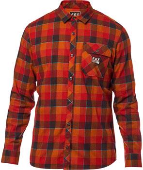 Fox Racing Rowan Stretch Men's Long Sleeve Flannel Shirt: Bordeaux SM