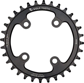 Wolf Tooth Drop-Stop Chainring: 30T x 76