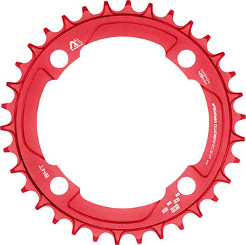 e*thirteen M Profile 10/11-speed Guide Ring 36t 104BCD Narrow Wide, Red