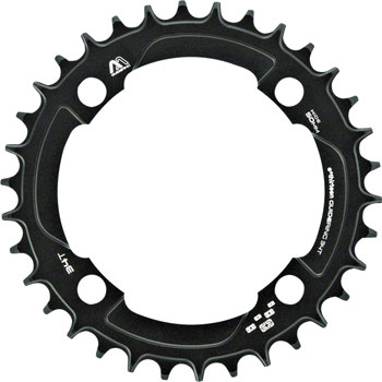 e*thirteen M Profile 10/11-speed Guide Ring 34t 104BCD Narrow Wide, Black