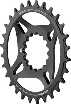 e*thirteen Direct Mount M Profile 10/11/12 speed, Forged Guide Ring 30t Narrow Wide, Black/Silver