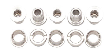 Problem Solvers Double Chainring Bolts Silver Chromoly