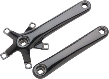 Dimension 110 Crankset - 175mm, 110/74 BCD, Square Taper JIS Spindle Interface, Black