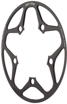 All-City Cross Wizard Chainring Guard 44t x 110mm Black