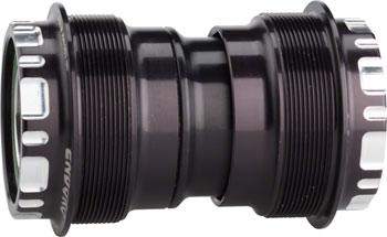 Enduro T47 Bottom Bracket: Stainless Steel Angular Contact Bearings 24mm, Black