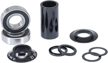 We The People Compact Mid Bottom Bracket For 19mm Spindle Black