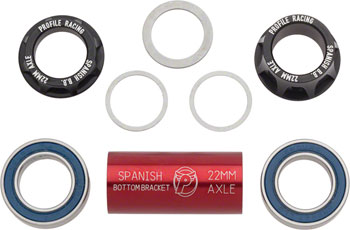Profile Racing 22mm Spanish Bottom Bracket Black (no Spindle)