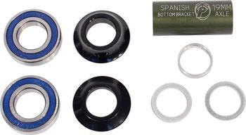 Profile Racing Spanish Bottom Bracket Set Black (no Spindle)