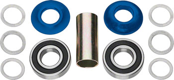 Profile Racing Mid Bottom Bracket Set Blue (no Spindle)