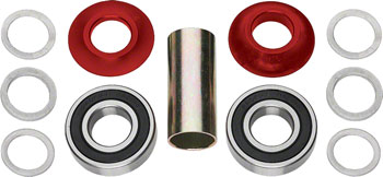 Profile Racing Mid Bottom Bracket Set Red (no Spindle)