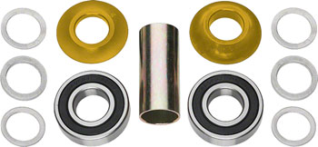 Profile Racing Mid Bottom Bracket Set Gold (no Spindle)