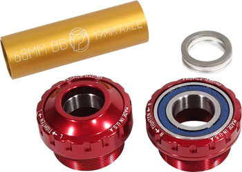 Profile Racing Outboard Bearing Bottom Bracket Red (no Spindle)