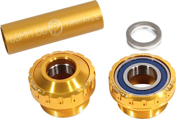 Profile Racing Outboard Bearing Bottom Bracket Gold (no Spindle)