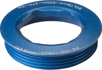 RaceFace CINCH Puller Cap with Washer 18mm XC/AM Blue