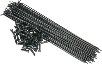 Salt PG Spokes 186mm 40 Pieces Black