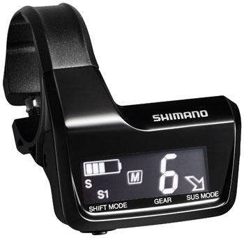 Shimano XT SC-MT800A Di2 Digital Display/Junction A Unit with 3 E-Tube Ports and Clamps for 31.8 and 35.0mm Handlebars