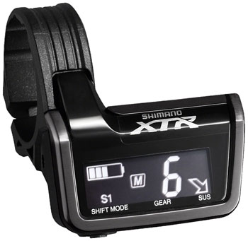 Shimano XTR SC-M9051B Di2 Digital Display/Junction A Unit with 3 E-Tube Ports and Clamps for 31.8 and 35.0mm Handlebars